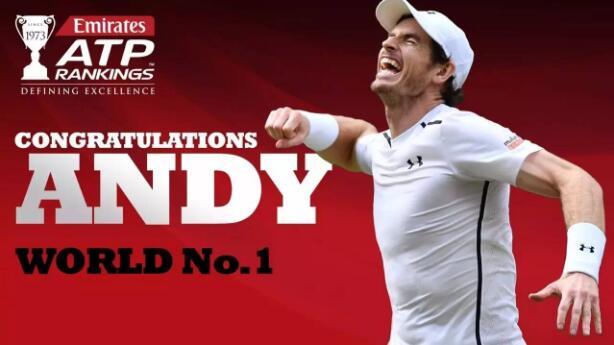 穆雷成为第26位ATP世界排名第一