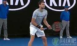 迪米特洛夫VS加斯奎特 2017年澳网公开赛 男单第三轮比赛视频