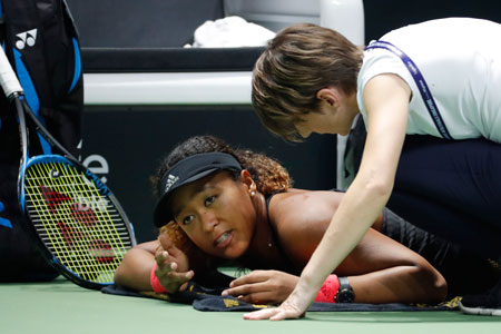大坂直美因伤退出,将贝尔滕斯送到WTA总决赛半决赛