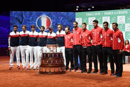 """""""最后一次""""戴维斯杯决赛的苦乐参半的预告,法国诉克罗地亚"""