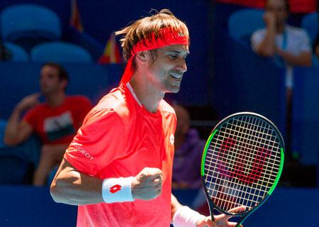 大卫费雷尔在澳大利亚霍普曼杯赢得决赛